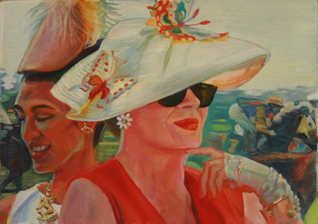 1e_JGood_Butterfly Hat_Oil on board 30x46cm