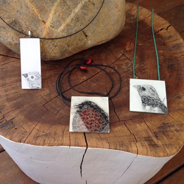 Collagraph necklaces