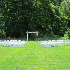 Simple outdoor ceremony for 50 guests