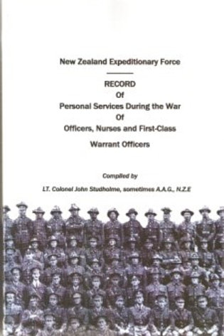 New Zealand Expeditionary Force RECORD of Personal Services During the War.