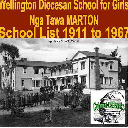 School List for Nga Tawa School for Girls, Marton 1911-1967