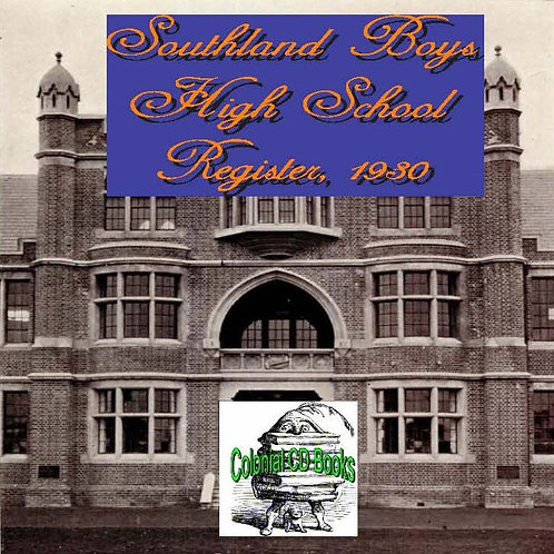 Southland Boys High School Register up to 1930