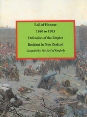 Roll of Honour 1840 to 1903 Defenders of Empire
