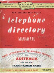 Manawatu Telephone Directory 1959, 1962 & 1967