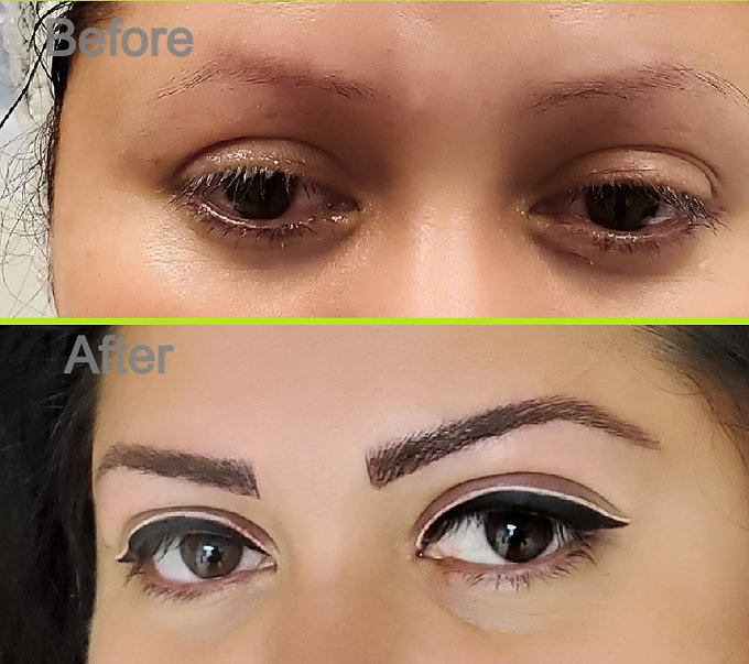 Microblading and permanent makeup applied!