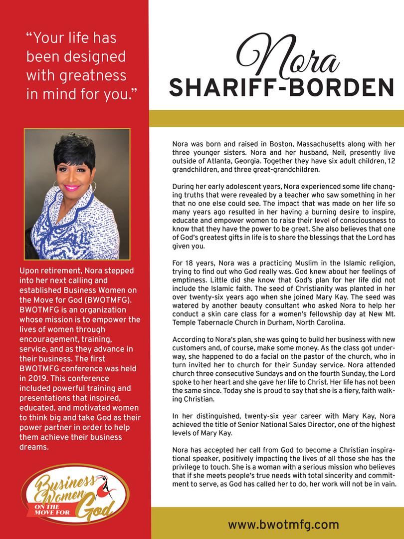 Nora Shariff Bio