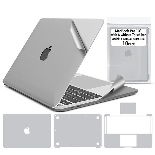 Full body skin for Macbook Pro 13'' 2016-2019 (10 packages)