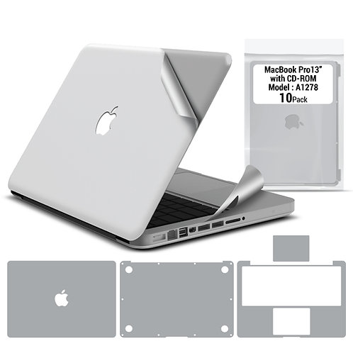 Full body skin for Macbook Pro 13'' 2008-2011 (10 packages)