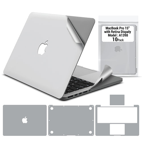 Full body skin for Macbook Pro 15'' 2012-2015 (10 packages)