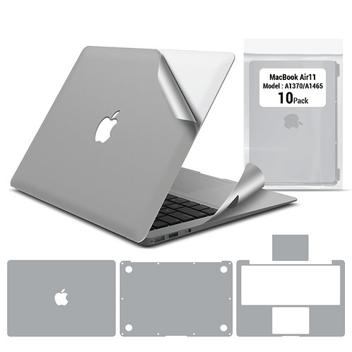 Full body skin for Macbook Air 11'' A1465 A1370 (10 packages)