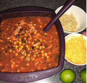 Chicken Tortilla Soup made in Epicure`s Multipurpose Steamer