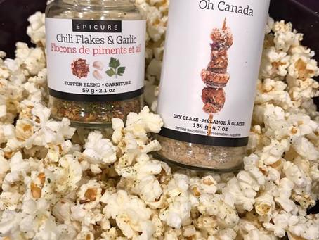 Spicy Maple Garlic Popcorn