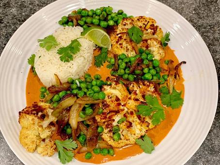 Roasted Cauliflower & Peas Tandoori