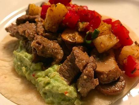 Steak Tacos with Jicama Pineapple Salsa