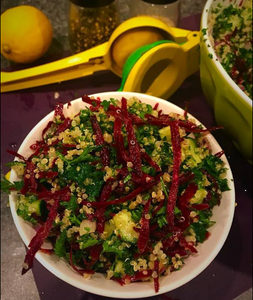 tabouli with grated beets