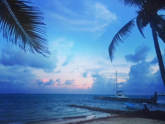 Sunset on Ambergris Caye, Belize