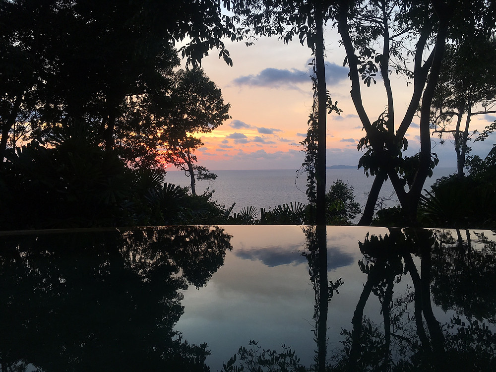 Sunset View from the Villa