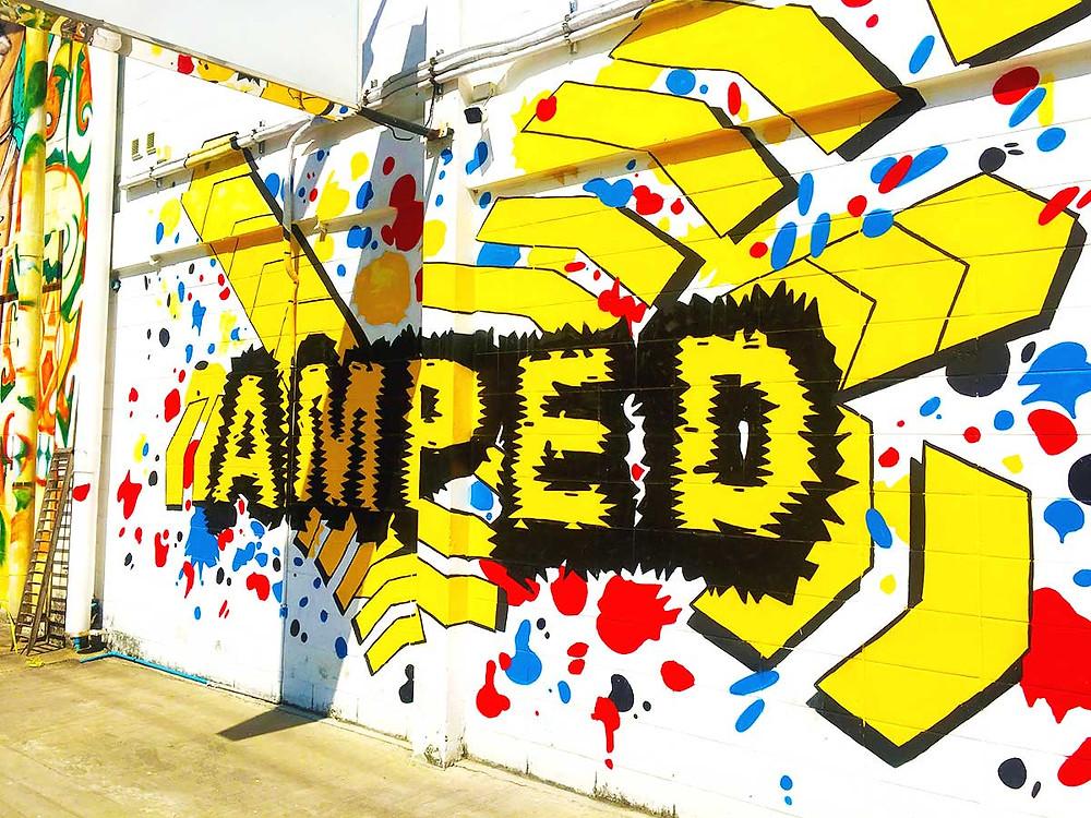 Amped wall art signage