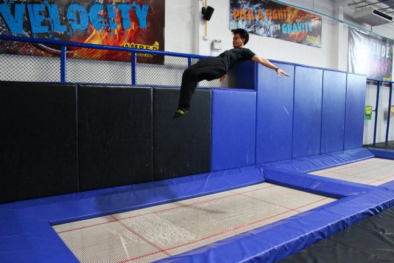 Olympic style trampoline at Amped Bangkok