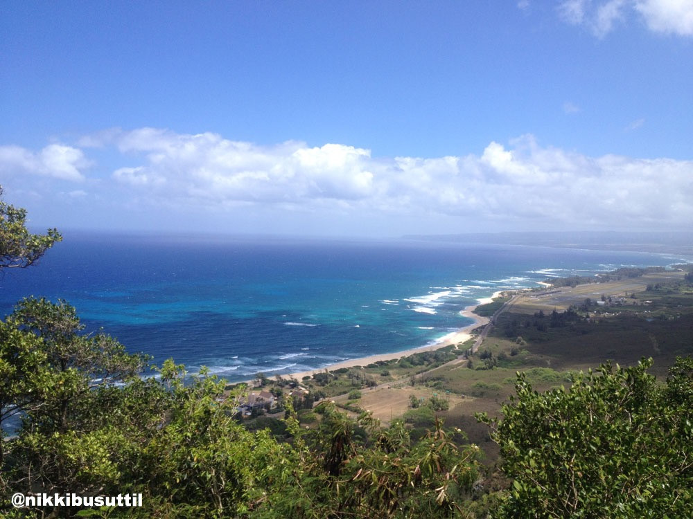 Rockclimber's View from Mokule'ia, Oahu, Hawaii