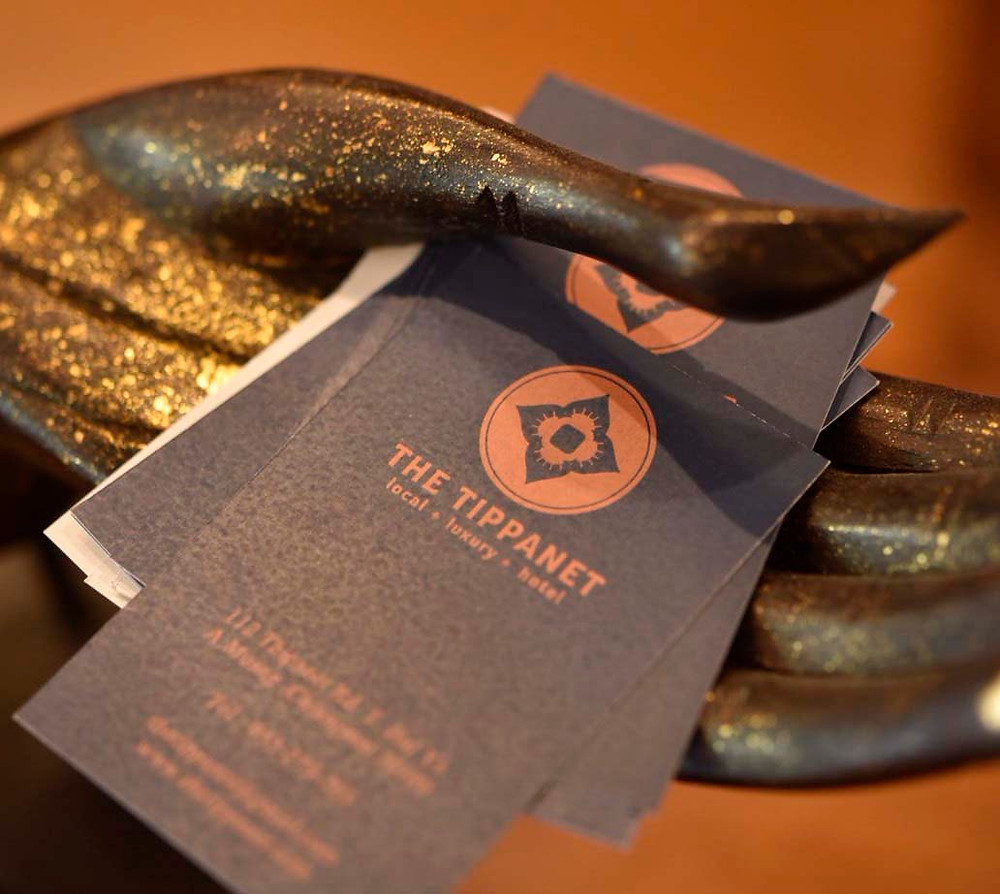 The Tippanet business cards available at reception