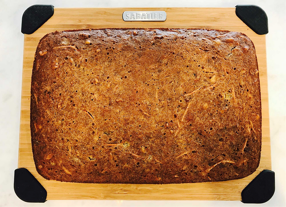 Golden brown and baked through banana carrot loaf