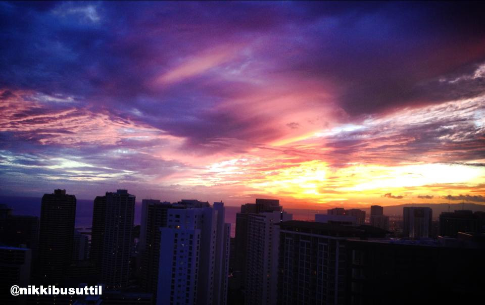 Breathtaking Sunset over Waikiki, Honolulu
