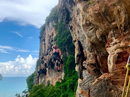 Rockclimbing in Krabi, Thailand