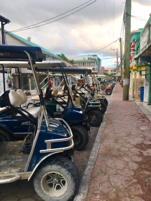 Golf carts to get around San Pedro