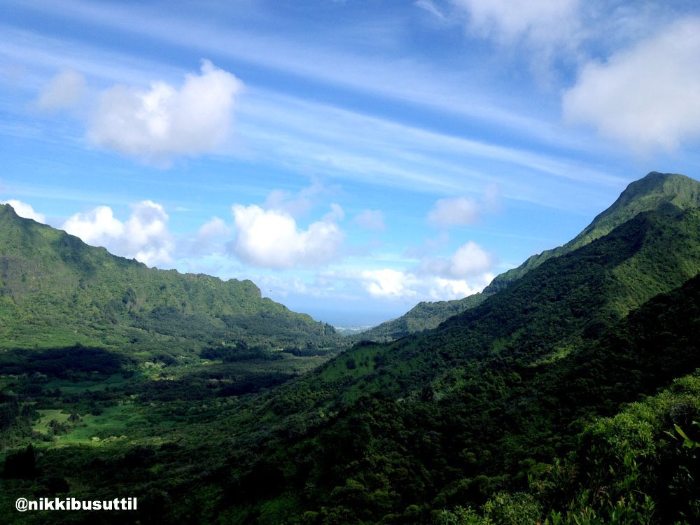 Pau'oa Flats Trail Lookout, Oahu, Hawaii