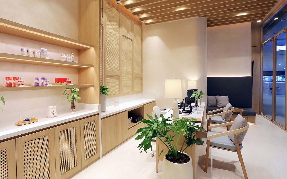 Namm Spa Bangkok reception interior design retail products