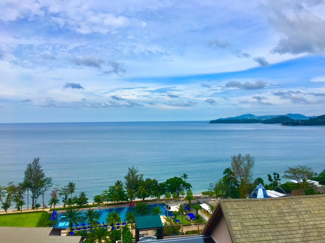 Kamala Bay from the hilltop at Hyatt Regency Phuket