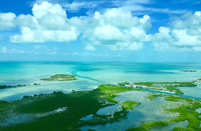 Flying over to Ambergris Caye, Belize