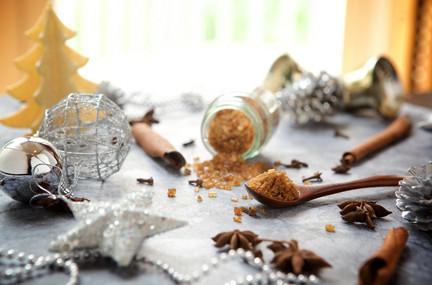 Christmas ingredients at Devarana Spa