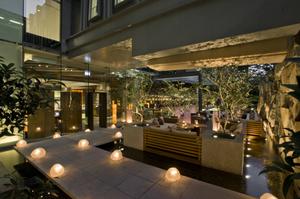 Zuma Bangkok's outdoor terrace