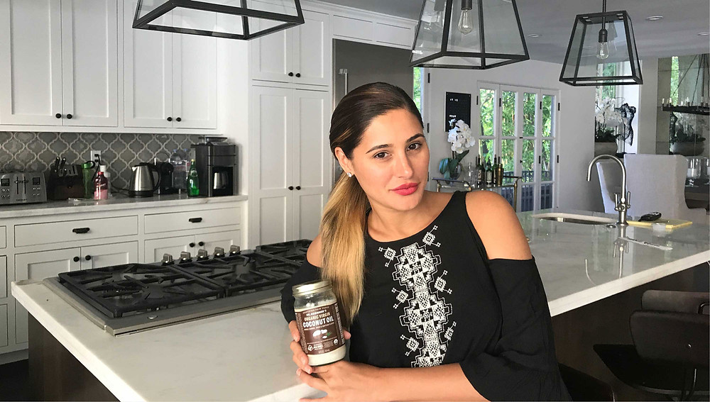 Coconut oil in Nargis' pantry and beauty cabinet!