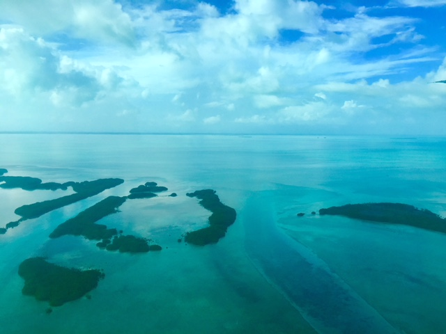 Aerial View over to Ambergris Caye