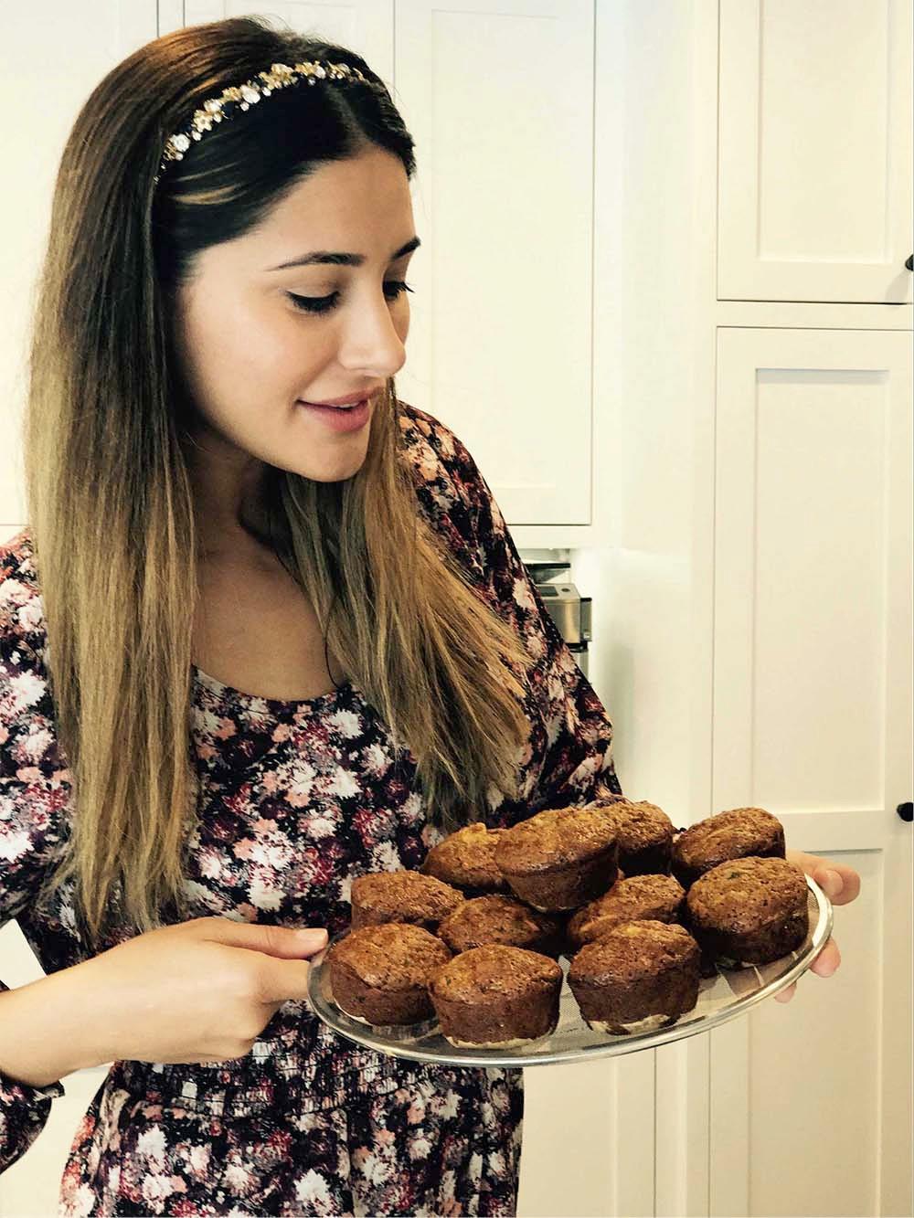 Delicious zucchini carrot apple muffins