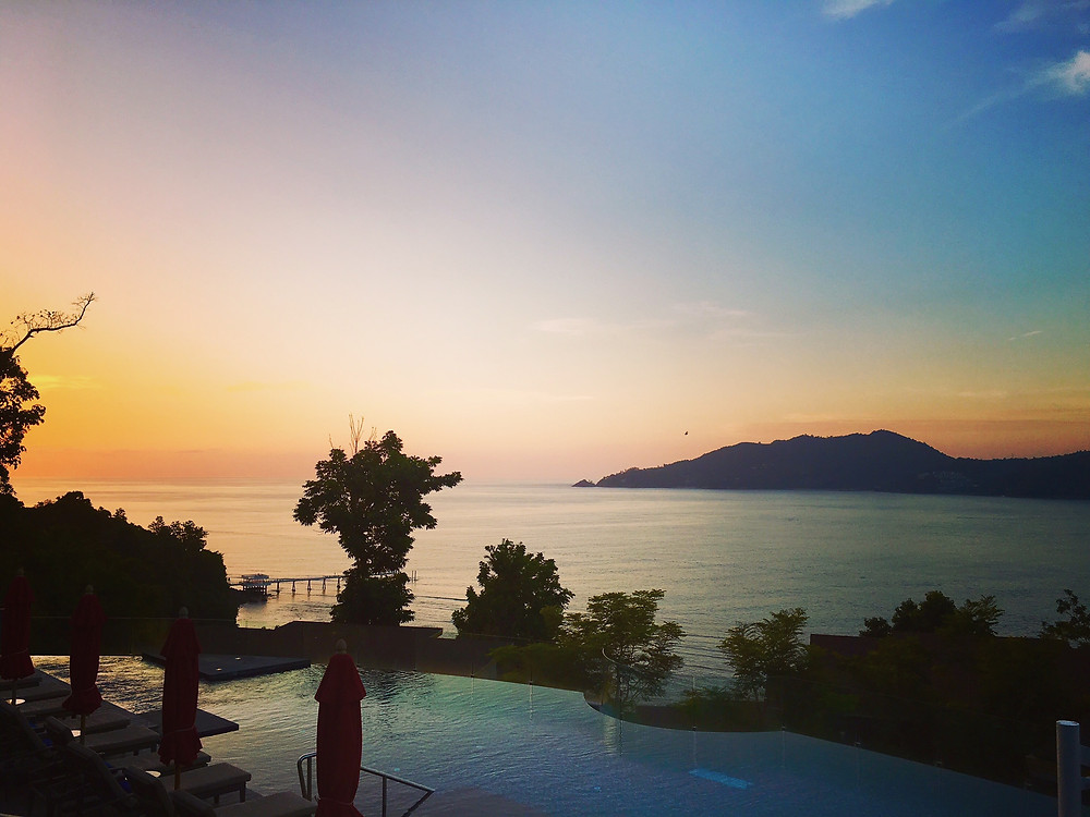 Spectacular sunset view from The Clubhouse Amari Phuket Ocean Wing