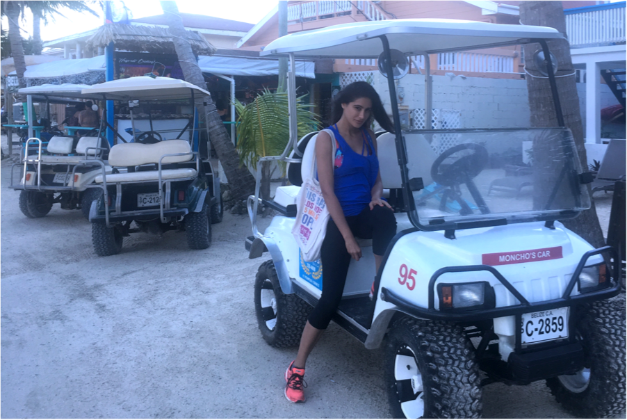 Golf buggies everywhere on La Isla Bonita