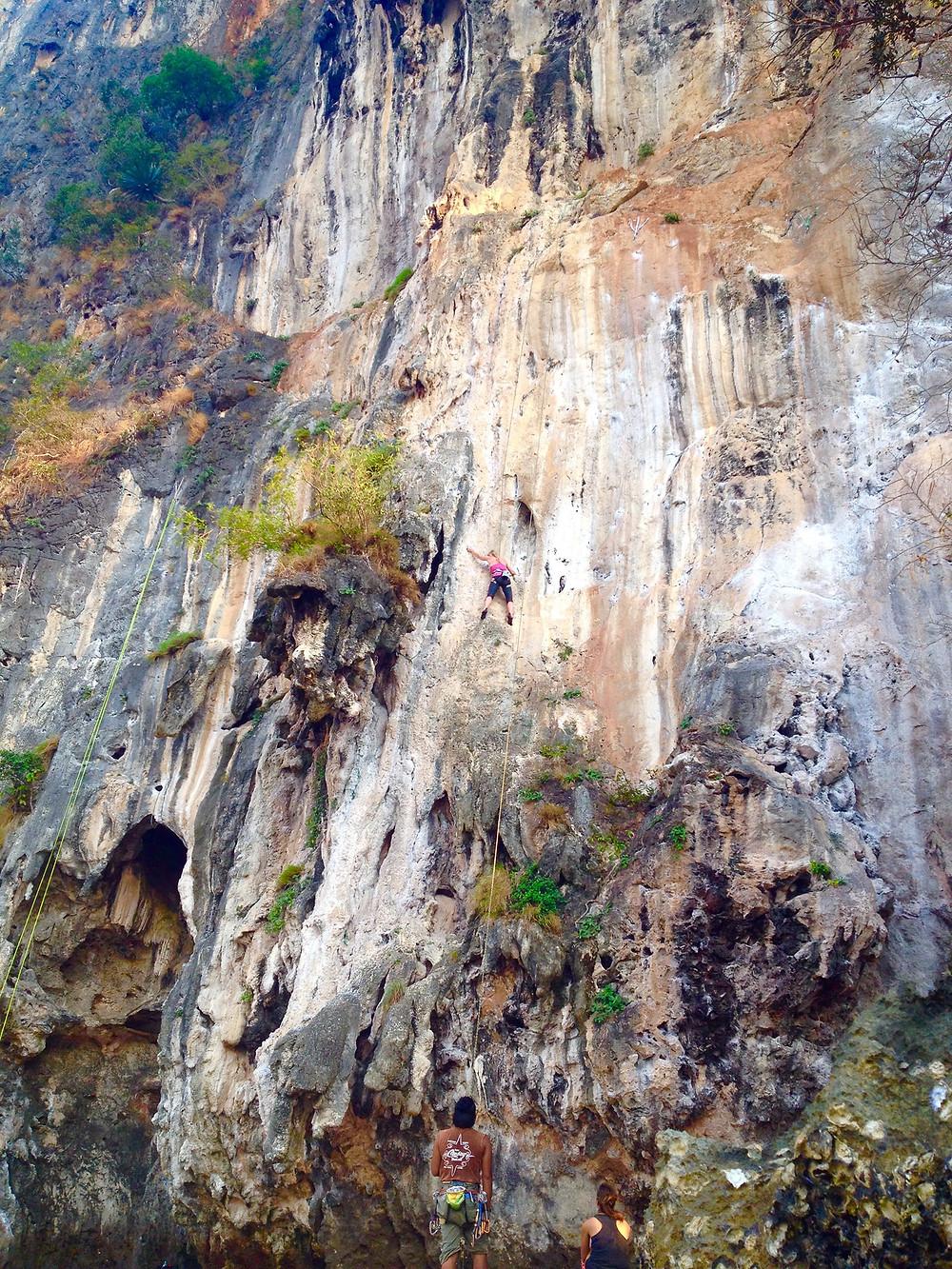 Nikki Busuttil Rockclimbing 1-2-3 Wall East Railay Thailand