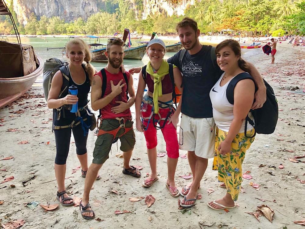 Nikki Busuttil climbing Krabi Thailand