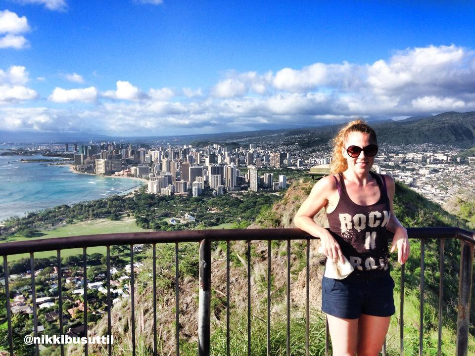 Hiking Trail View over Honolulu, Oahu, Hawaii