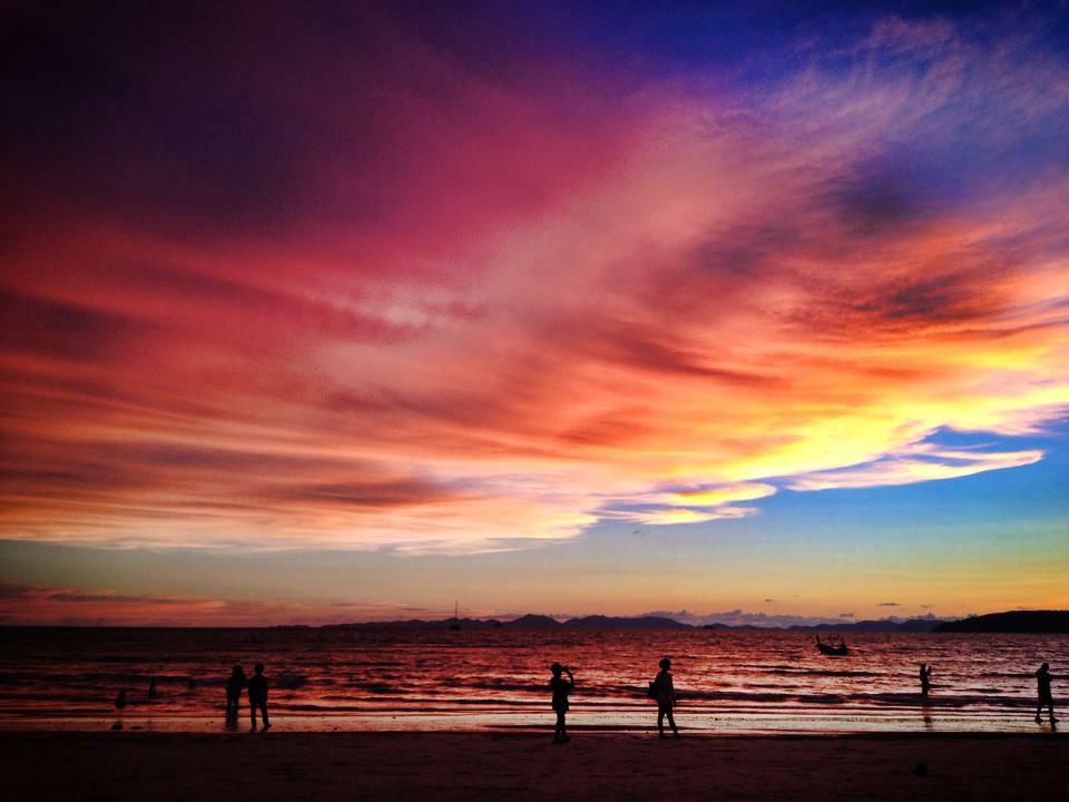 West Railay Sunset Krabi Thailand