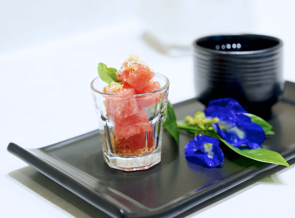 Namm Spa Bangkok thai dessert butterfly pea tea