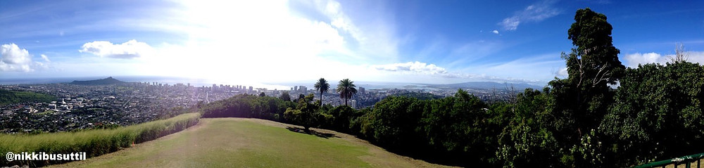 View from Tantalus Park, Oahu, Hawaii