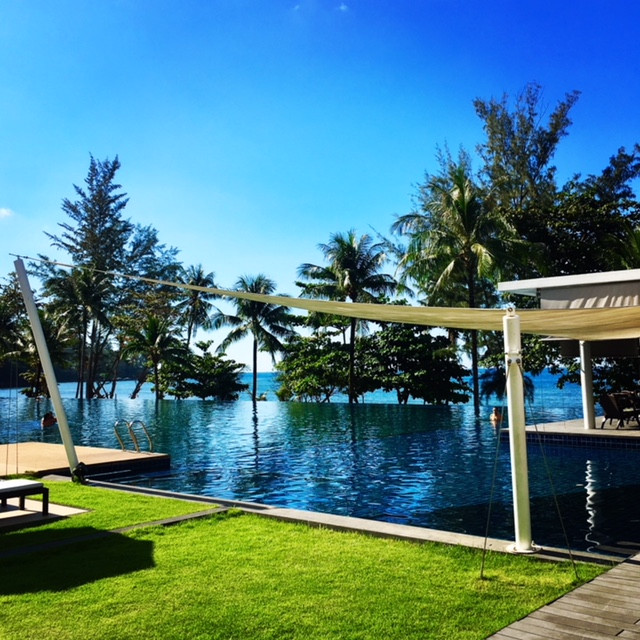Pool and ocean view at Hyatt Regency Phuket