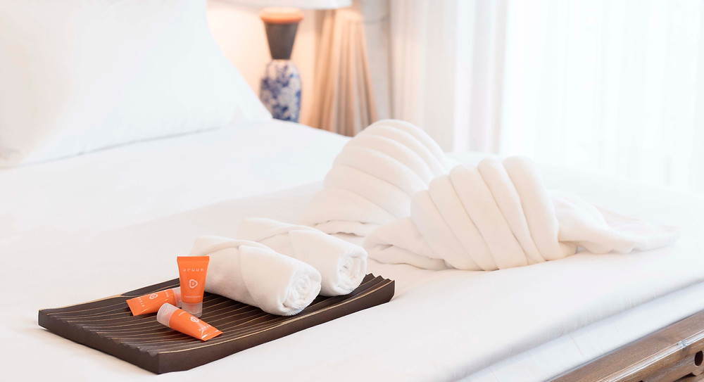 Aruun organic personal care items at The Tippanet Hotel