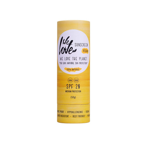 We Love The Planet - Natuurlijke zonnebrandstick – SPF 20