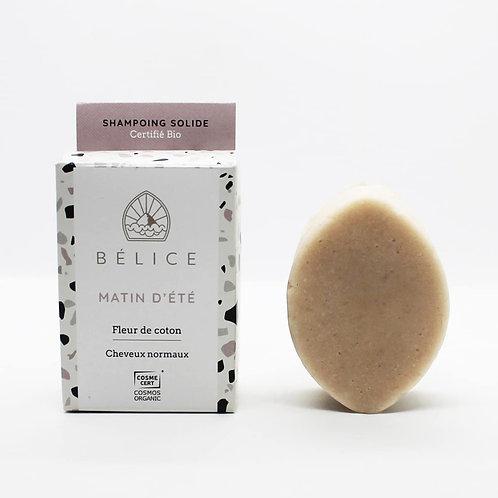 Bélice Matin D'Été Blok Shampoo Normaal Haar Katoenbloem Bio 85g